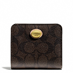 COACH PEYTON SIGNATURE SMALL WALLET - ONE COLOR - F50176