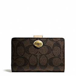 COACH PEYTON SIGNATURE MEDIUM WALLET - ONE COLOR - F50181