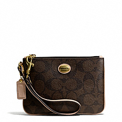 COACH PEYTON SIGNATURE SMALL WALLET - ONE COLOR - F50182