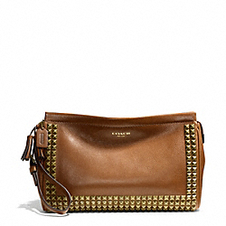 COACH STUDDED LEATHER LARGE CLUTCH - ONE COLOR - F50190