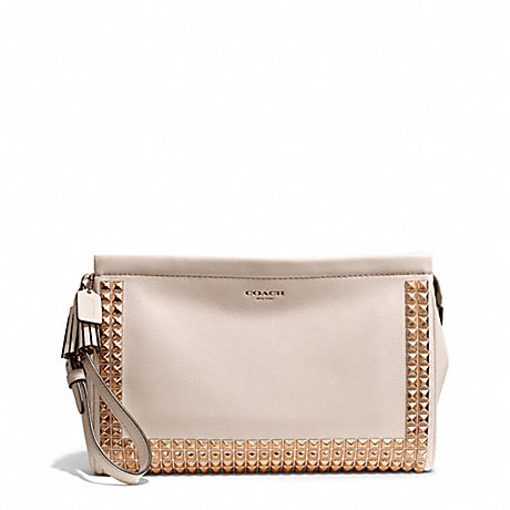 COACH STUDDED LEATHER LARGE CLUTCH -  - f50190