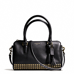 COACH STUDDED LEATHER MINI SATCHEL - ONE COLOR - F50191