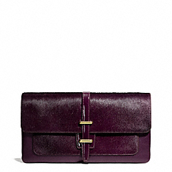 COACH HAIRCALF HASP CLUTCH - ONE COLOR - F50193
