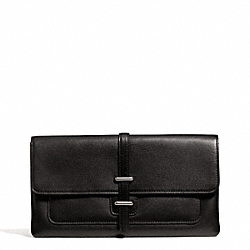 COACH LEATHER HASP CLUTCH - ONE COLOR - F50207