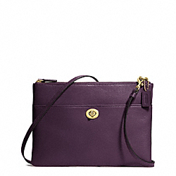 COACH LEATHER TURNLOCK CROSSBODY - BRASS/BLACK VIOLET - F50210