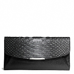 COACH MADISON GLITTER PYTHON SLIM ENVELOPE WALLET - ONE COLOR - F50225