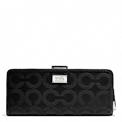 COACH MADISON OP ART SATEEN SKINNY WALLET - ONE COLOR - F50235