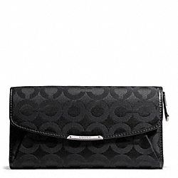 COACH MADISON CHECKBOOK WALLET IN OP ART SATEEN FABRIC - ONE COLOR - F50251