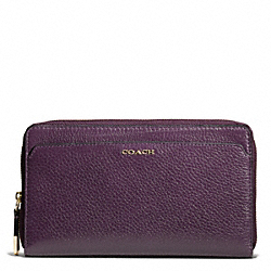 COACH MADISON LEATHER CONTINENTAL ZIP WALLET - ONE COLOR - F50254