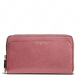 MADISON LEATHER CONTINENTAL ZIP WALLET - f50254 - LIGHT GOLD/ROUGE
