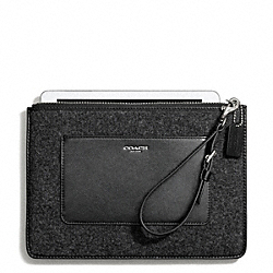 FELT FLAT ZIP CASE COACH F50309