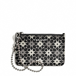 WAVERLY SIGNATURE PRINT COATED CANVAS ID SKINNY - SILVER/BLACK/WHITE - COACH F50339