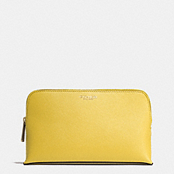 COACH MEDIUM SAFFIANO LEATHER COSMETIC CASE - LIGHT GOLD/SAFFRON - F50371