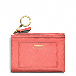 COACH DARCY LEATHER MEDIUM SKINNY - BRASS/CORAL - F50425