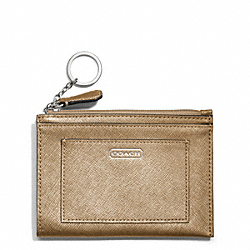 COACH DARCY LEATHER MEDIUM SKINNY - SILVER/GOLD - F50425