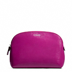DARCY PATENT LEATHER COSMETIC CASE - SILVER/BRIGHT MAGENTA - COACH F50426