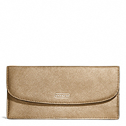 COACH DARCY LEATHER SOFT WALLET - ONE COLOR - F50428