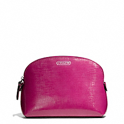 DARCY PATENT LEATHER SMALL COSMETIC CASE - SILVER/BRIGHT MAGENTA - COACH F50429