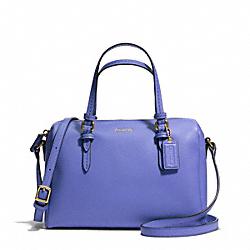 COACH PEYTON BENNETT MINI SATCHEL - BRASS/PORCELAIN BLUE - F50430