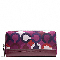 COACH PARK OP ART PRINT ACCORDION ZIP - ONE COLOR - F50433