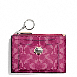 COACH PEYTON DREAM C MEDIUM SKINNY - SILVER/BORDEAUX/TAN - F50436
