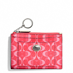 COACH PEYTON DREAM C MEDIUM SKINNY - SILVER/BRIGHT CORAL/TAN - F50436
