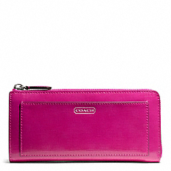 DARCY PATENT LEATHER SLIM ZIP COACH F50438