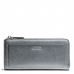 COACH DARCY LEATHER SLIM ZIP - ONE COLOR - F50439