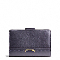 COACH TAYLOR LEATHER MEDIUM WALLET - ONE COLOR - F50444