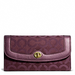 COACH TAYLOR OP ART SIGNATURE CHECKBOOK WALLET - ONE COLOR - F50447