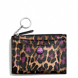 COACH SIGNATURE STRIPE OCELOT PRINT MEDIUM SKINNY - ONE COLOR - F50457