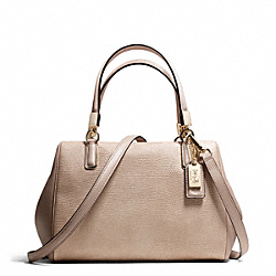 COACH MADISON MINI SATCHEL IN GLITTER LIZARD - LIGHT GOLD/BUFF - F50464