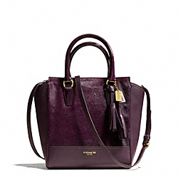 COACH TANNER MINI HAIRCALF CROSSBODY - BRASS/AUBERGINE - F50471
