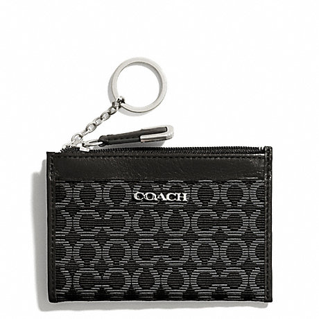 COACH MADISON NEEDLEPOINT OP ART MINI SKINNY - SILVER/BLACK - f50473