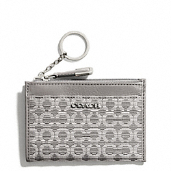 COACH MADISON NEEDLEPOINT OP ART MINI SKINNY - ONE COLOR - F50473