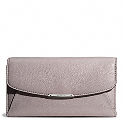 COACH MADISON CHECKBOOK WALLET IN LEATHER - ONE COLOR - F50478