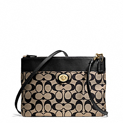 COACH PRINTED SIGNATURE TURNLOCK CROSSBODY - ONE COLOR - F50494