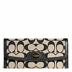 COACH SIGNATURE SOFT WALLET - ONE COLOR - F50501