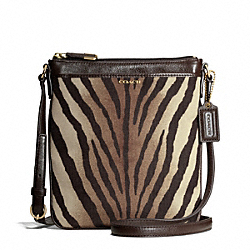 MADISON SWINGPACK IN ZEBRA PRINT FABRIC COACH F50506
