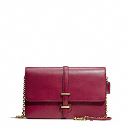 COACH LEATHER SLIM CLUTCH - BRASS/DEEP PORT - F50509