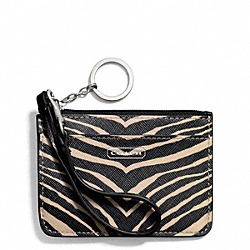 COACH ZEBRA PRINT ID SKINNY - ONE COLOR - F50514