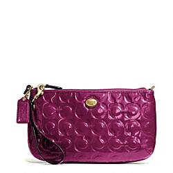 COACH PEYTON OP ART EMBOSSED PATENT LARGE WRISTLET - ONE COLOR - F50539