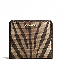 COACH MADISON ZEBRA PRINT FABRIC SMALL WALLET - ONE COLOR - F50552
