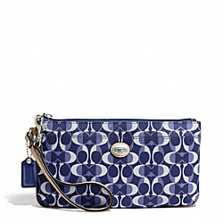 COACH PEYTON DREAM C GO-GO WRISTLET - SILVER/NAVY/TAN - F50590
