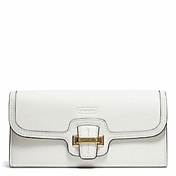 COACH TAYLOR LEATHER SLIM ENVELOPE - BRASS/IVORY - F50612