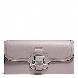 COACH TAYLOR LEATHER SLIM ENVELOPE - SILVER/PUTTY - F50612