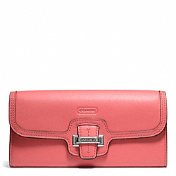 TAYLOR LEATHER SLIM ENVELOPE - SILVER/TEAROSE - COACH F50612