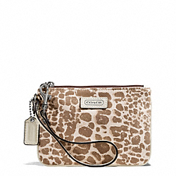 COACH PARK GIRAFFE PRINT SMALL WRISTLET - ONE COLOR - F50623