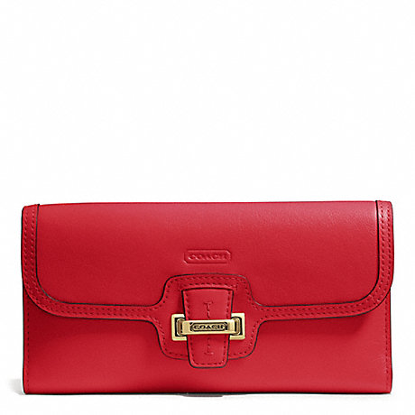COACH TAYLOR LEATHER CHECKBOOK WALLET -  - f50653