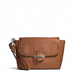 TAYLOR LEATHER FLAP CLUTCH COACH F50656